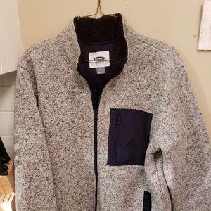 Mens medium Old Navy sherpa lined zipped jacket